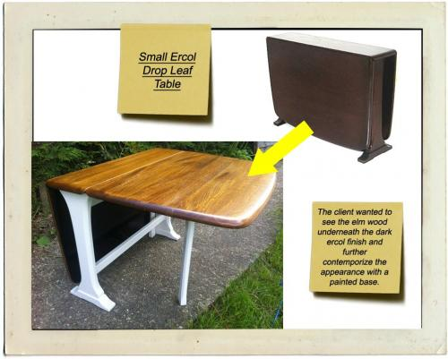 ercol painted lacquered dining table