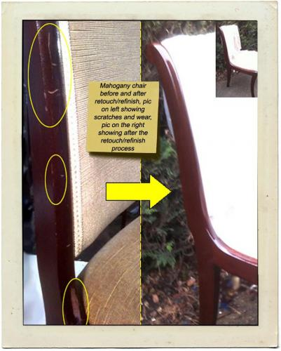 mahog chair refinish1