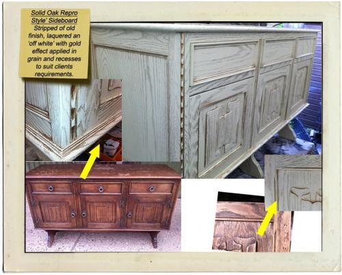 oak repro sideboard